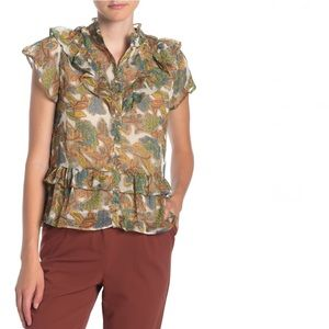 🎄NWT! Walter Baker floral ruffle blouse